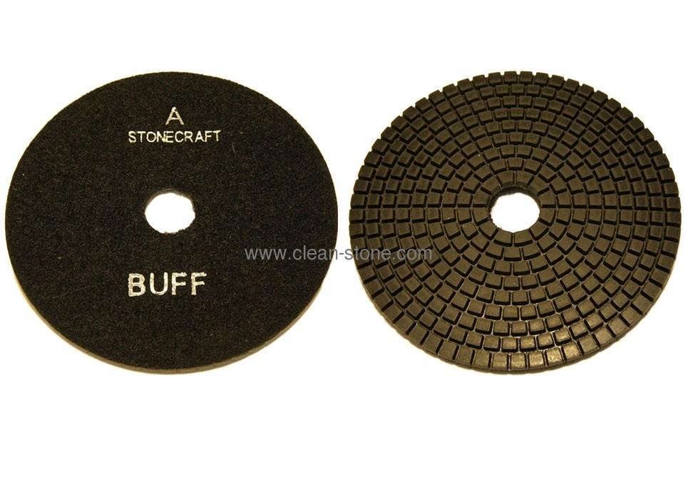 Алмазный гибкий шлифовальный круг d 125мм BUFF черный - 2