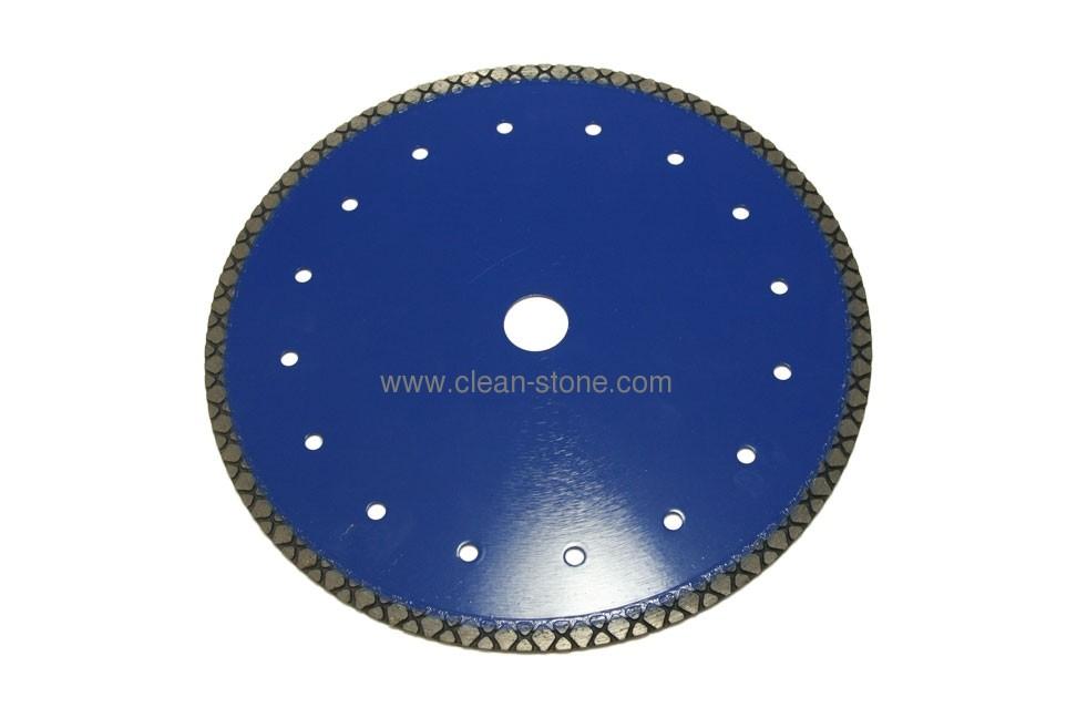 Отрезной алмазный диск d 230мм по бетону с ромбовидным сегментом - 1
