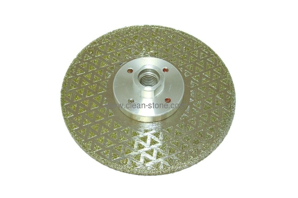 Диск d 125 мм, М 14 гальваническое алмазное покрытие, двухсторонний - 1