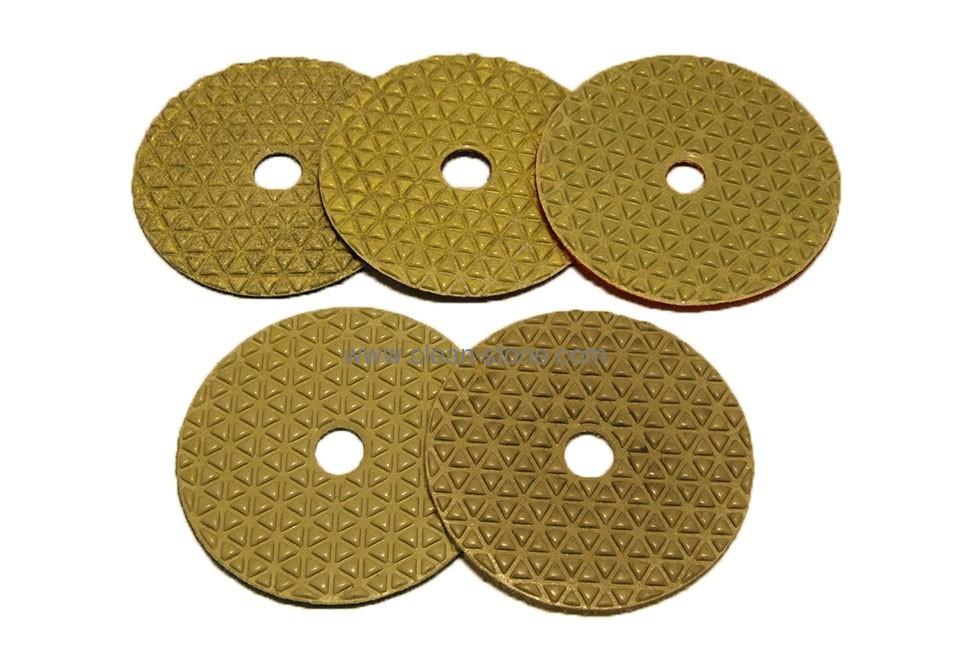 Алмазный гибкий шлифовальный круг d 100мм 5 шагов, треугольник №1-5 - 2