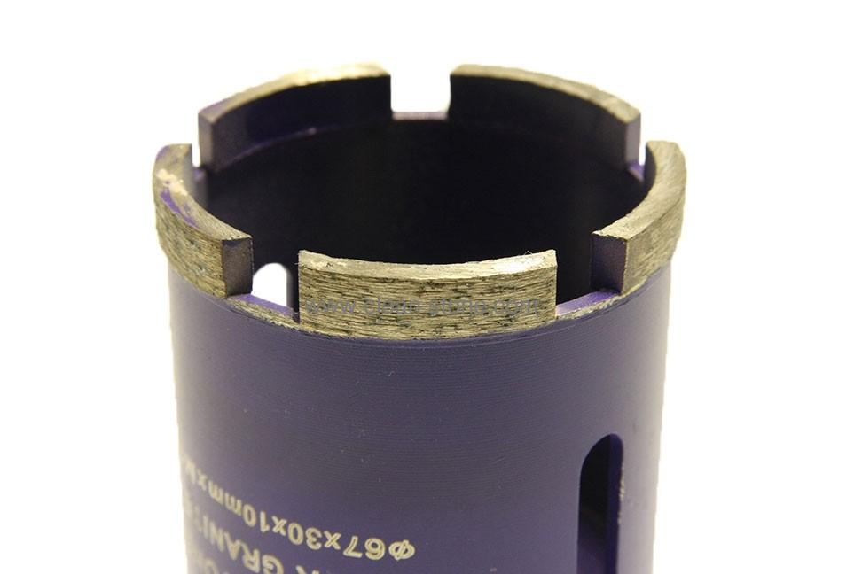 Алмазное сверло по граниту/керамограниту d 67 мм, М14 + хвостовик SDS - 2