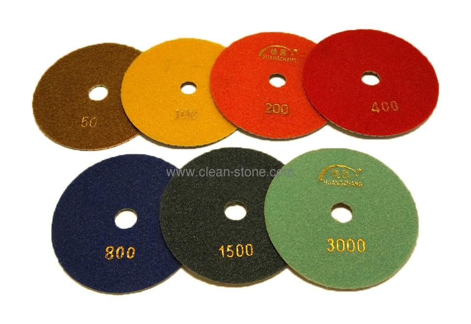 Алмазный гибкий шлифовальный круг d 125мм, трехцветный №50-3000 - 1