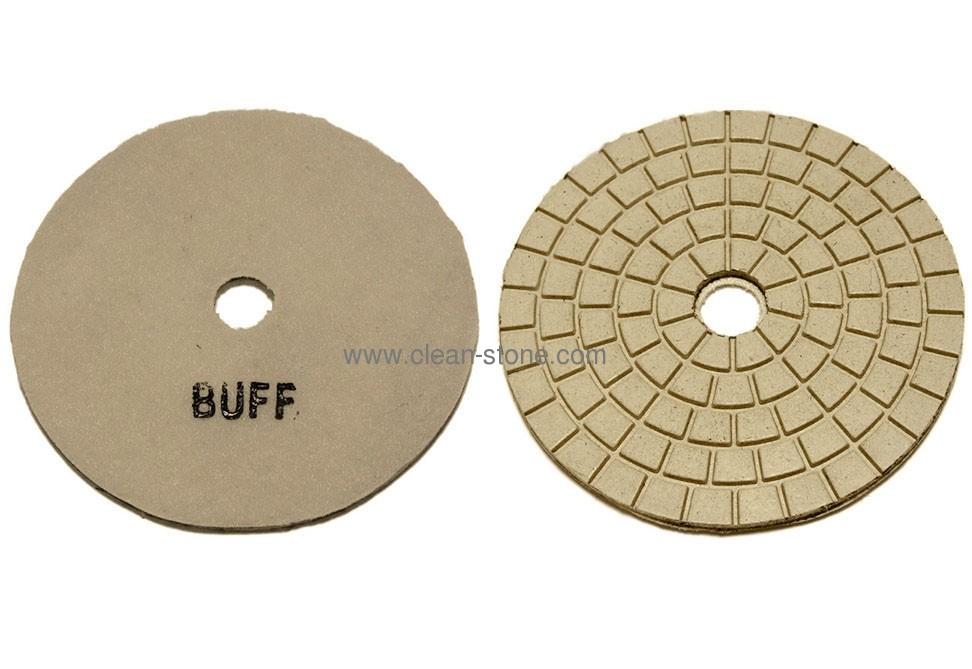 Алмазный полировальный круг d 125 мм BUFF для светлых пород камня - 2