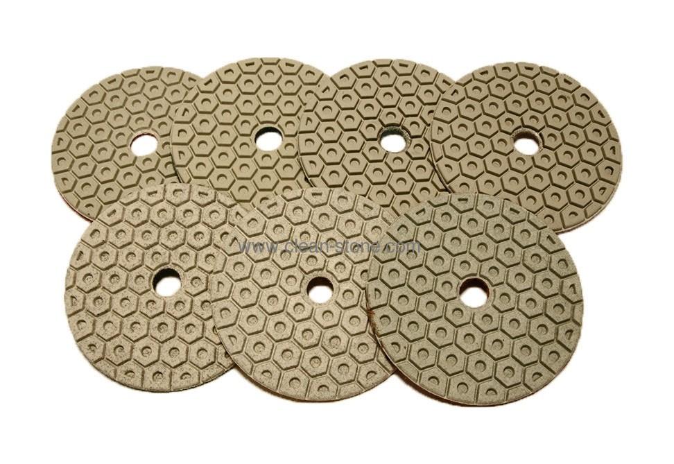 Алмазный гибкий шлифовальный круг d 100мм, гайка №50-3000 - 2