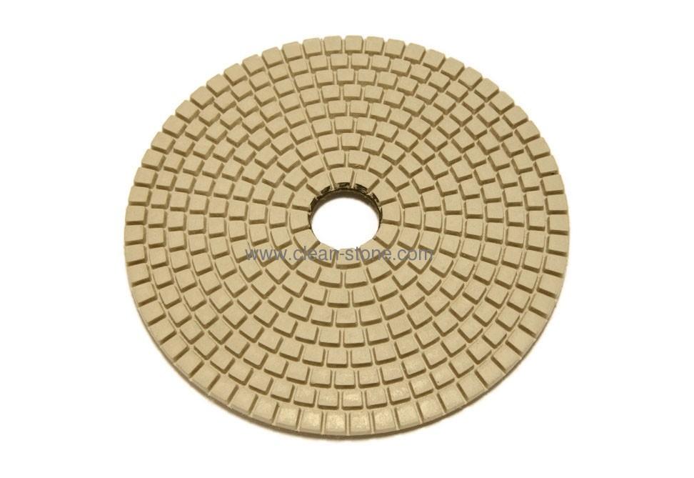 Алмазный гибкий шлифовальный круг d 125мм BUFF белый - 1