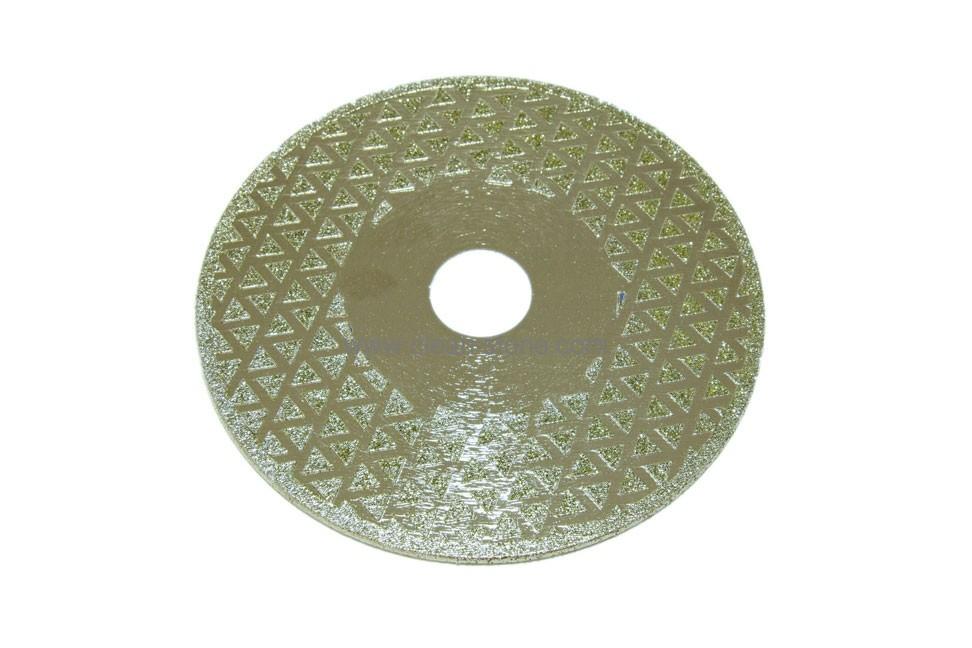 Диск d 125 мм, 22,23 мм гальваническое алмазное покрытие, двухсторонний - 1