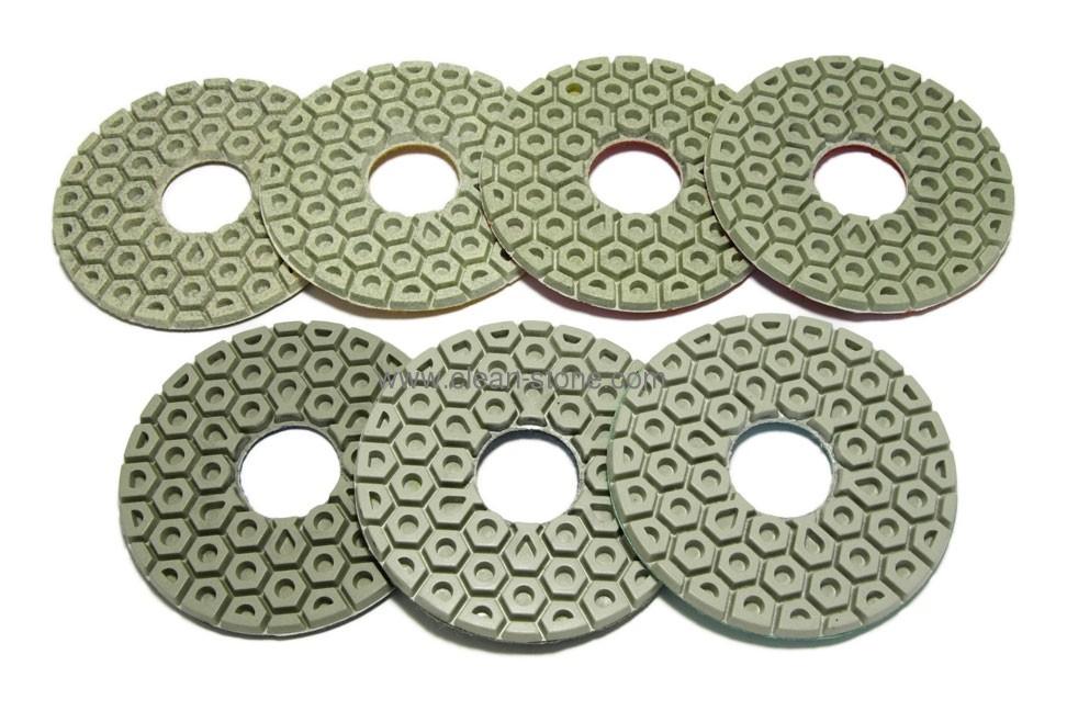 Алмазный гибкий шлифовальный круг d 125мм, гайка №50-3000 - 1