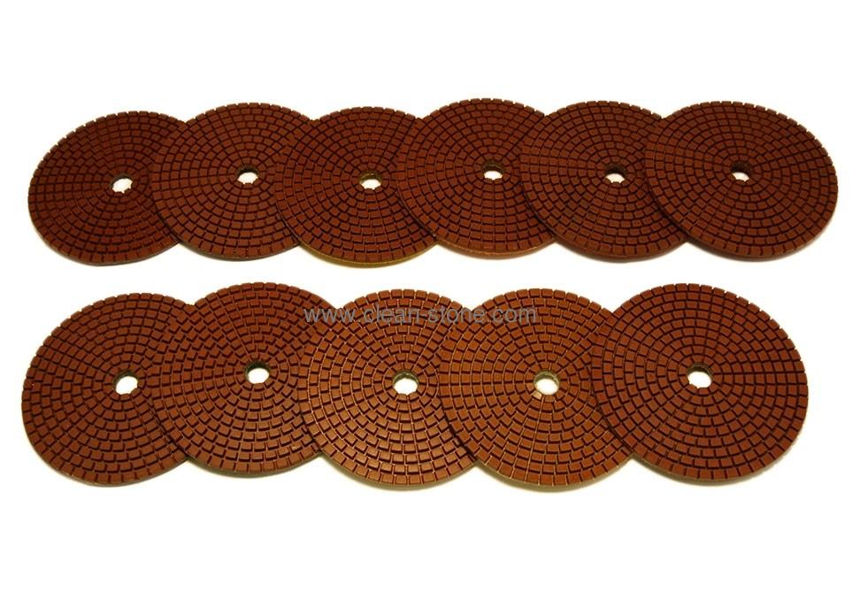 Алмазный гибкий шлифовальный круг d 100мм для темных пород камня, класс АА №30-3000 - 1