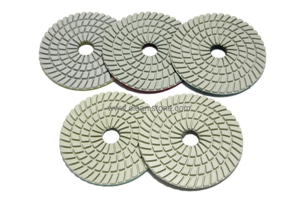 Алмазный гибкий шлифовальный круг d 125мм, 5 шагов класс АА, комплект - 1