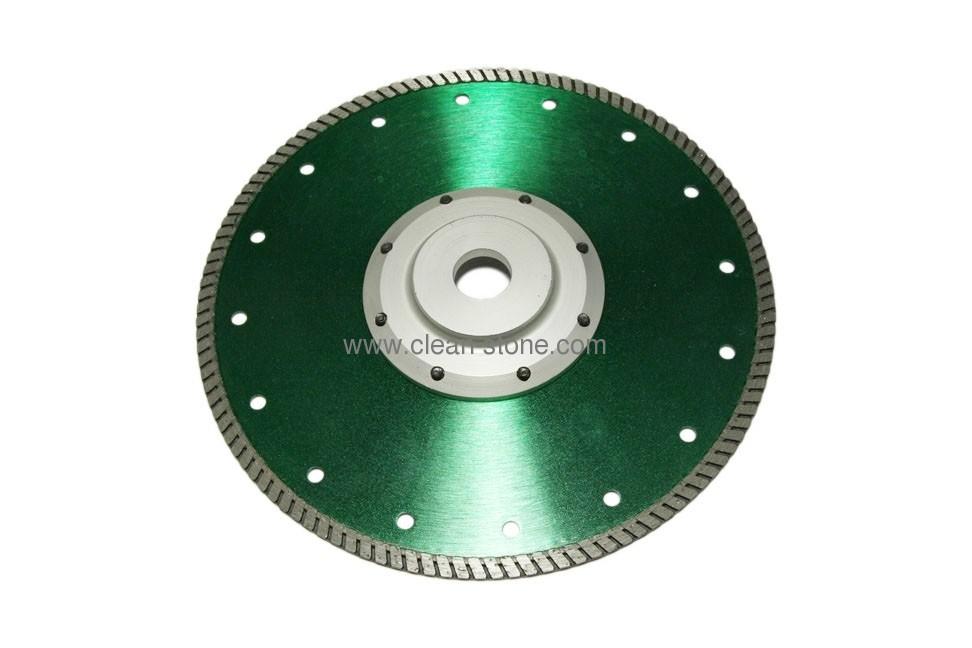 Алмазный отрезной диск d 230мм для твердых гранитов с фланцем - 1