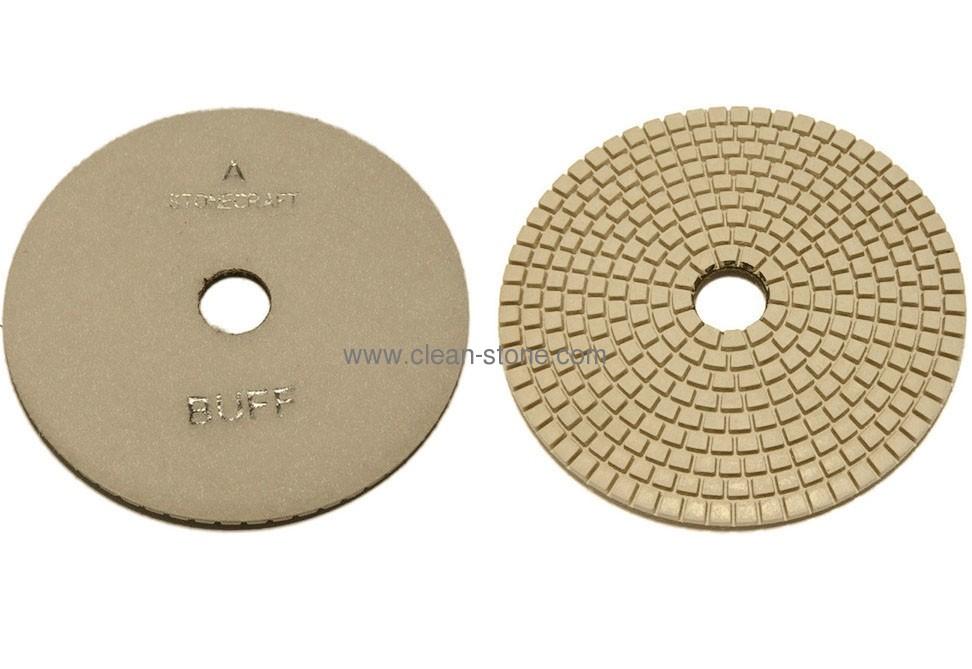 Алмазный гибкий шлифовальный круг d 125мм BUFF белый - 2