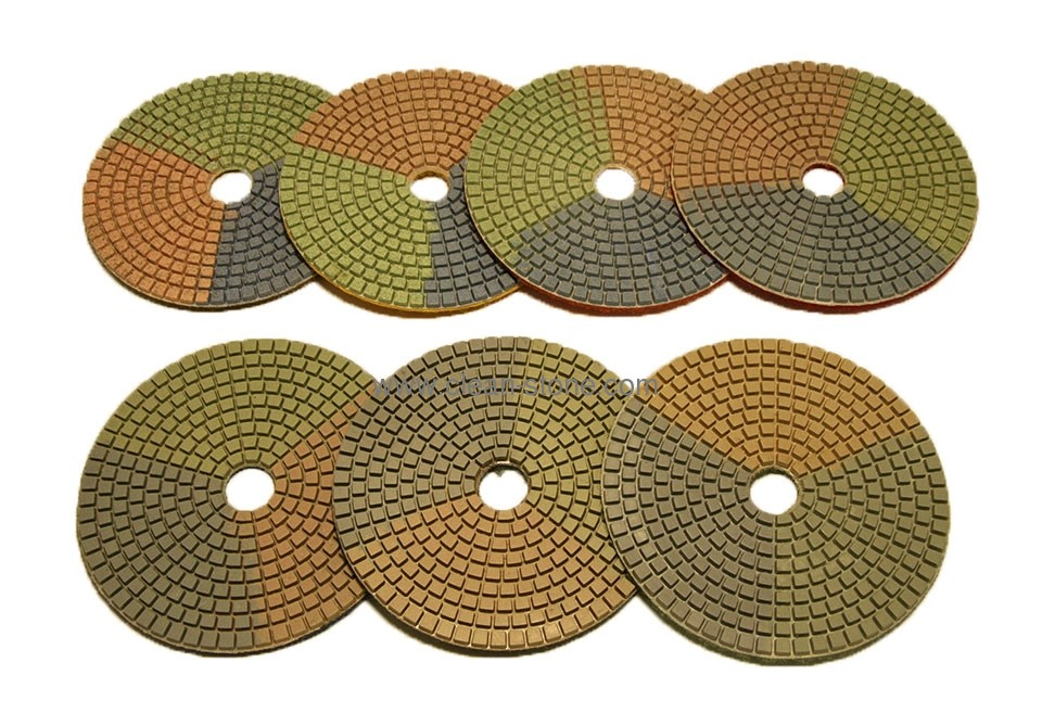 Алмазный гибкий шлифовальный круг d 100мм, трехцветный №50-3000 - 2
