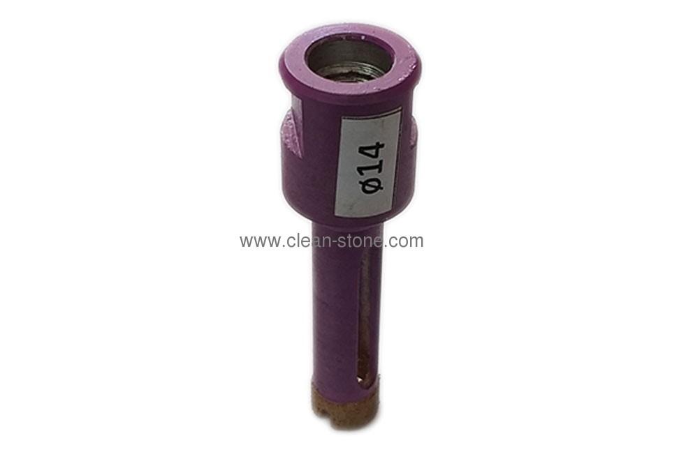 Алмазное сверло вакуумного спекания d 14 мм, М14 - 1