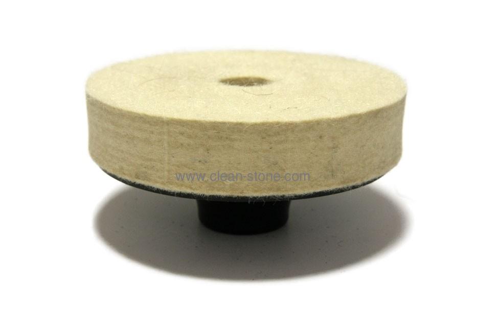 Фетровый круг d 100 мм, толщина 20 мм М14, высококачественный - 1