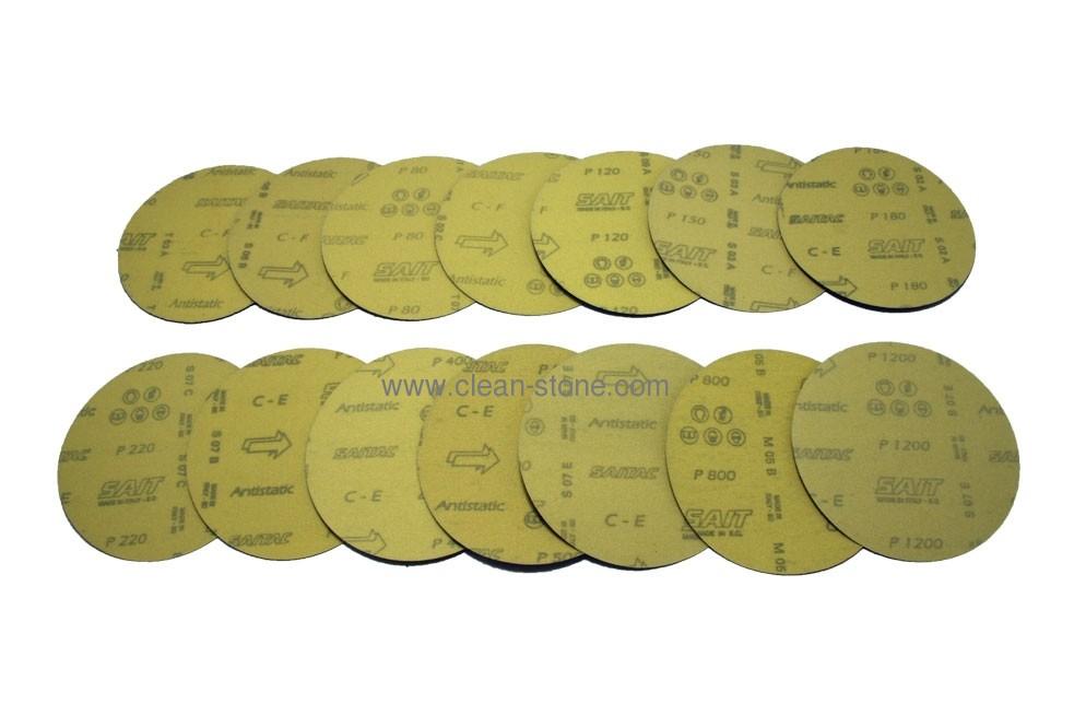 Наждачный диск SAITAC-VEL d 125мм на липучке Velcro №40-1200 - 1