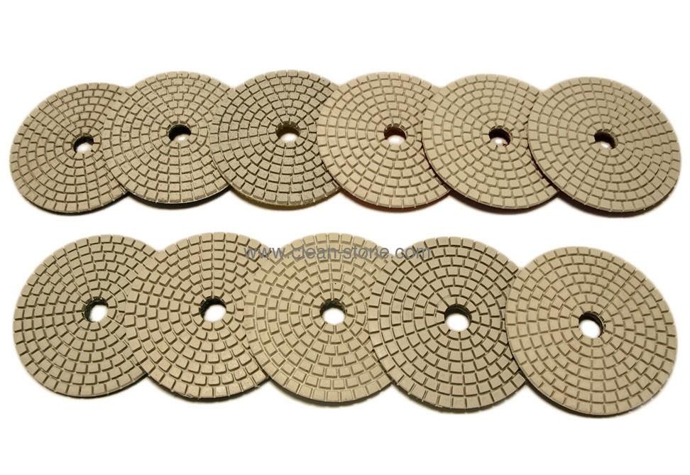 Алмазный гибкий шлифовальный круг d 80мм для светлых пород камня, класс А №30-3000 - 1