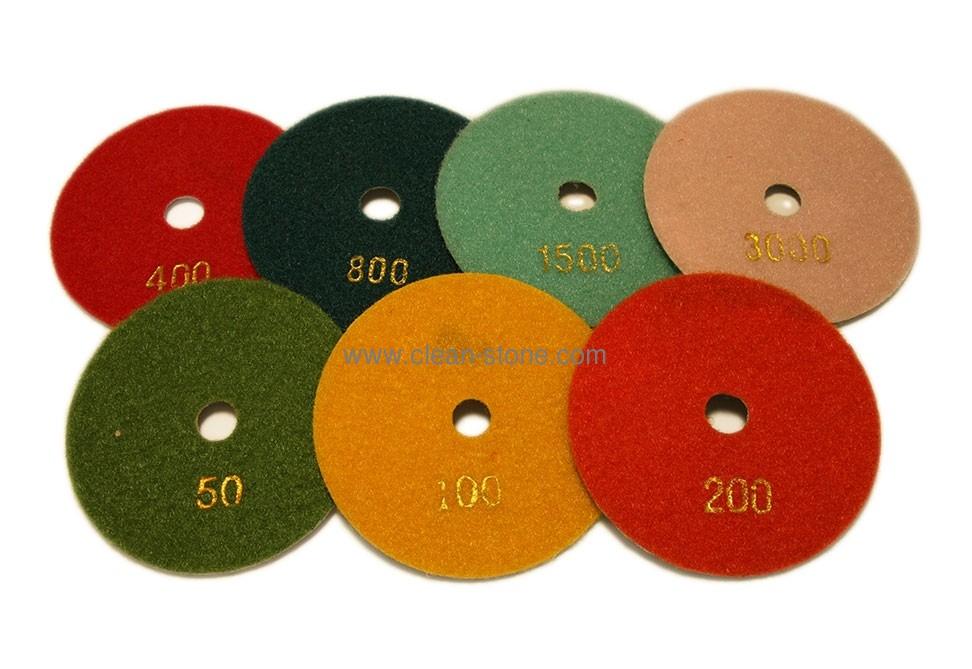 Алмазный гибкий шлифовальный круг d 100мм, гайка №50-3000 - 1