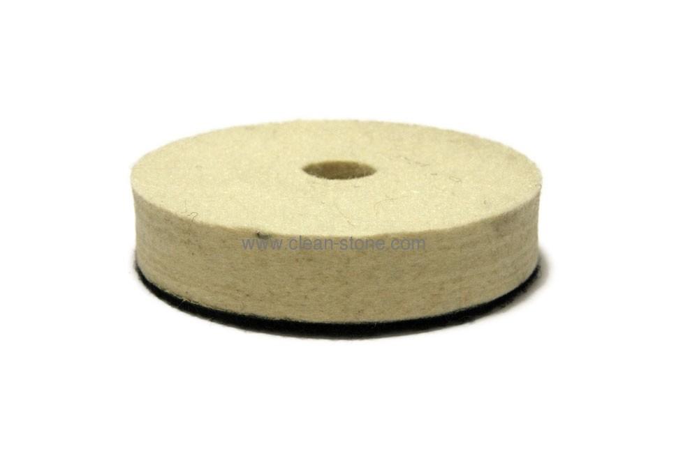 Фетровый круг d 100 мм, толщина 20 мм, высококачественный - 1
