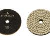 Алмазный гибкий шлифовальный круг d 80мм для светлых пород камня, класс А №30-3000