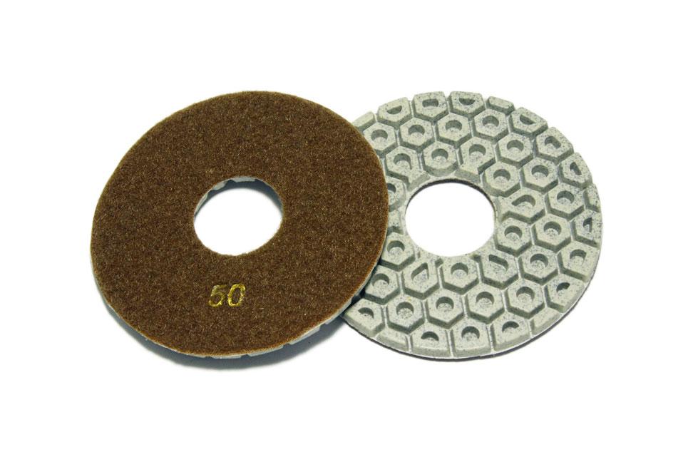 Алмазный гибкий шлифовальный круг d 125мм, гайка №50-3000