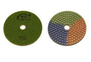 Алмазный гибкий шлифовальный круг d 100мм, трехцветный №50-3000