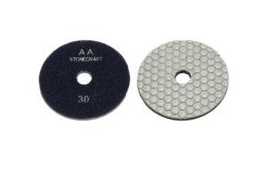 Алмазный гибкий шлифовальный круг Stonecraft d100мм «сота», класс АА №30-3000