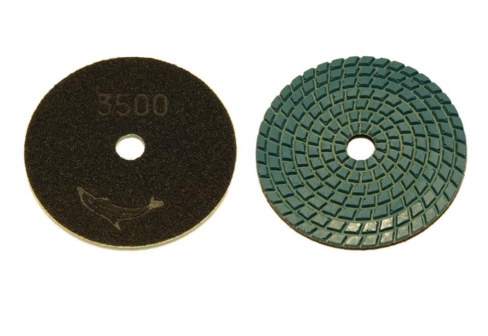 Алмазный гибкий шлифовальный круг d 100мм цветная рабочая часть №30-3500 - Комплект АГШК d 100мм №№ 30-3500