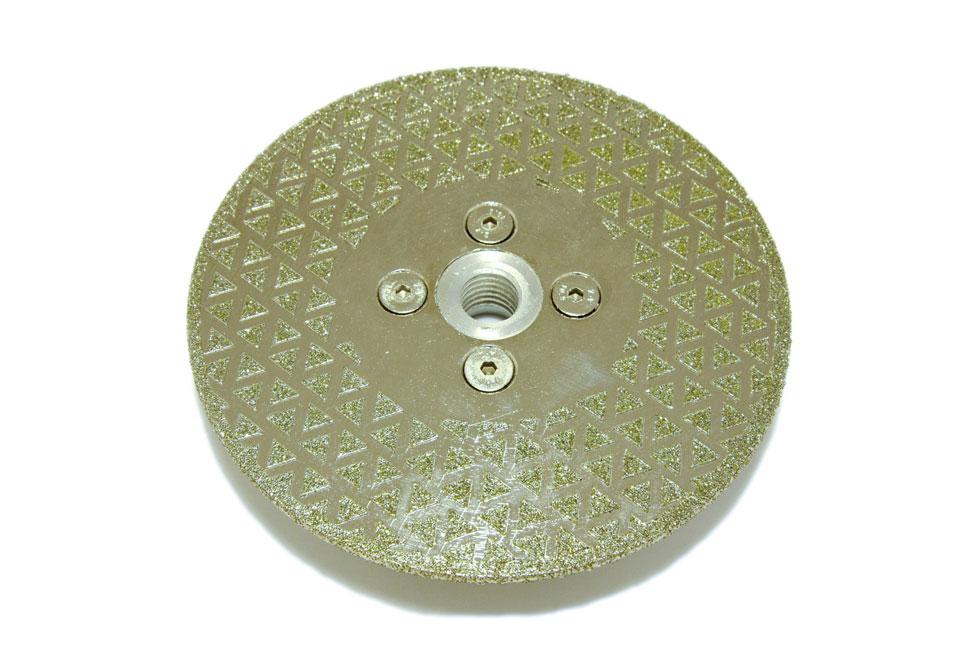 Диск d 125 мм, М 14 гальваническое алмазное покрытие, двухсторонний