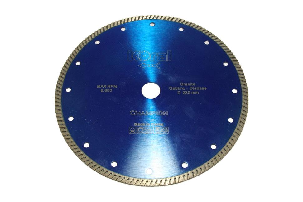 Отрезной алмазный диск d 230мм по твердому граниту