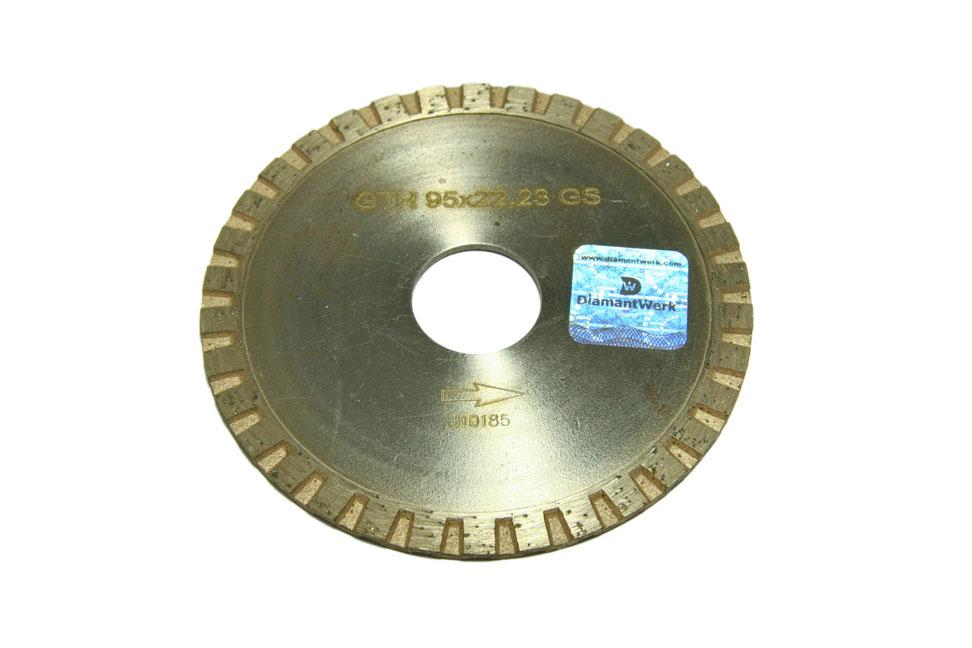 Круг алмазный отрезной Turbo 95*3*7*22,23 Granite GTH 95*22,23 GS