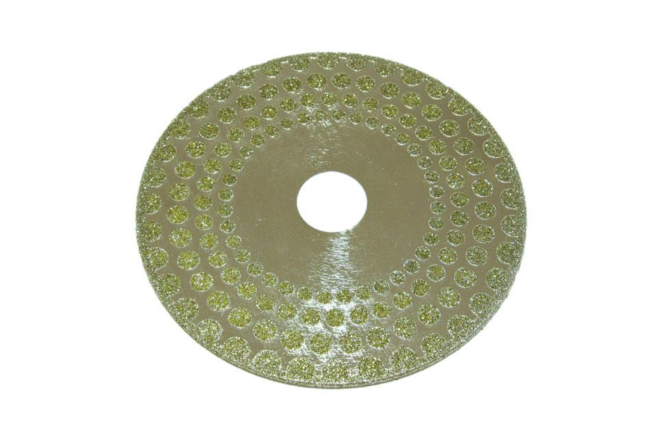 Диск d 125 мм, 22,23 мм гальваническое алмазное покрытие, односторонний (кружок)
