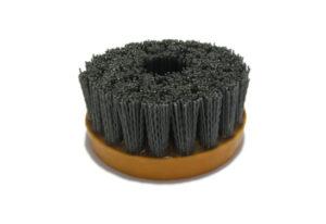 Абразивная щетка для браширования, состаривания камня d 110 мм, М14, №180
