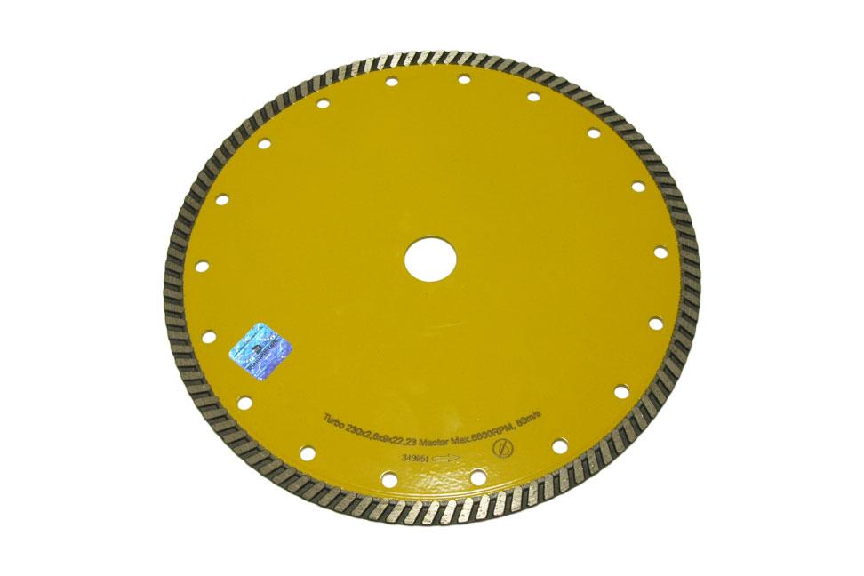 Круг алмазный отрезной Turbo 230×2.6x10x22.23 Master