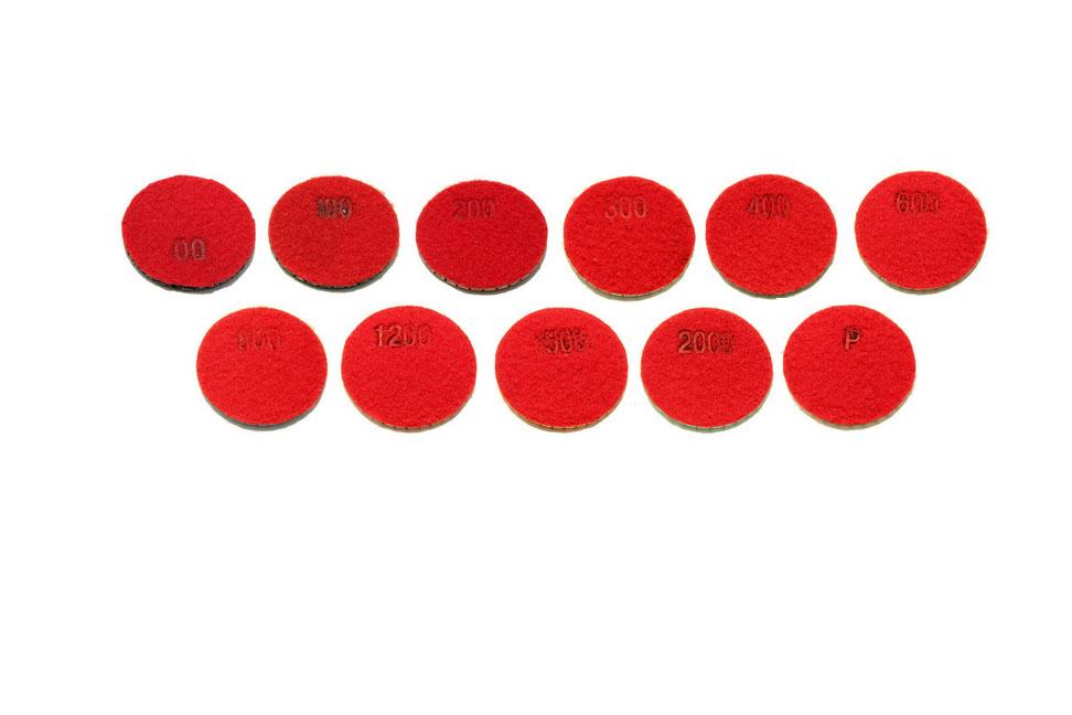 Алмазный гибкий шлифовальный круг d 48мм №00-P - Комплект АГШК d 48мм