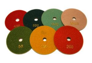 Алмазный гибкий шлифовальный круг d 100мм, гайка №50-3000 - Комплект АГШК d 100мм, гайка