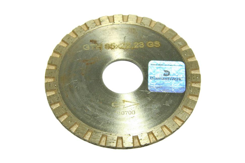 Круг алмазный отрезной Turbo 85*3*7*22,23 Granite GTH 85*22,23 GS