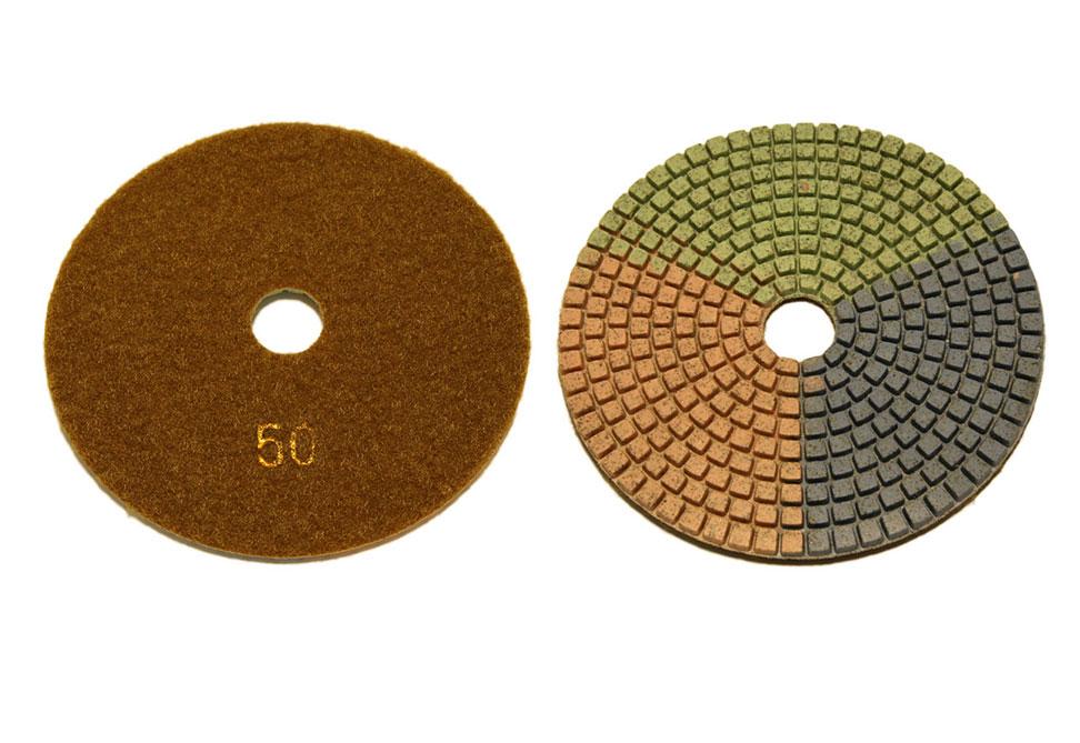 Алмазный гибкий шлифовальный круг d 125мм, трехцветный №50-3000