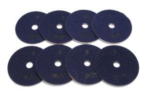 Алмазный гибкий шлифовальный круг BGX d 100мм №1-P - Комплект АГШК BGX d 100мм №№1-P