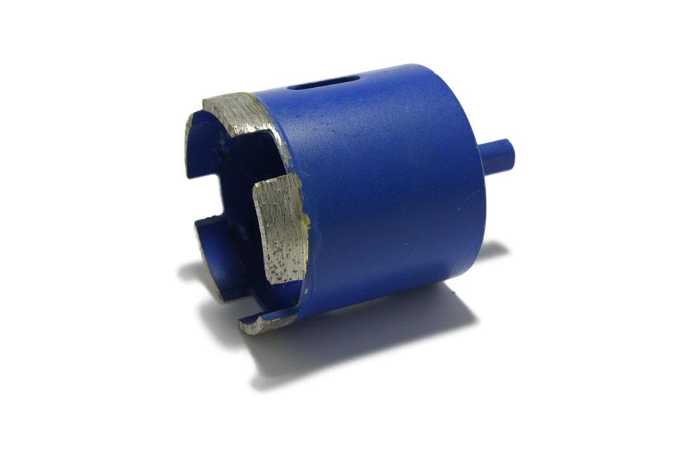 Алмазное сверло синего цвета для гранита/керамогранита d 60 мм