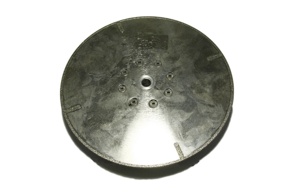 Диск отрезной для мрамора d 230мм, гальваника с фланцем