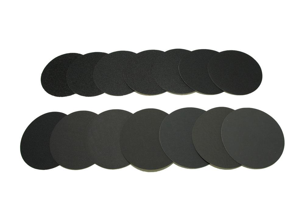 Наждачный диск SAITAC-VEL d 125мм на липучке Velcro №40-1200 - Комплект наждачных дисков SAITAC-VEL d 125мм на липучке Velcro №№40-1200