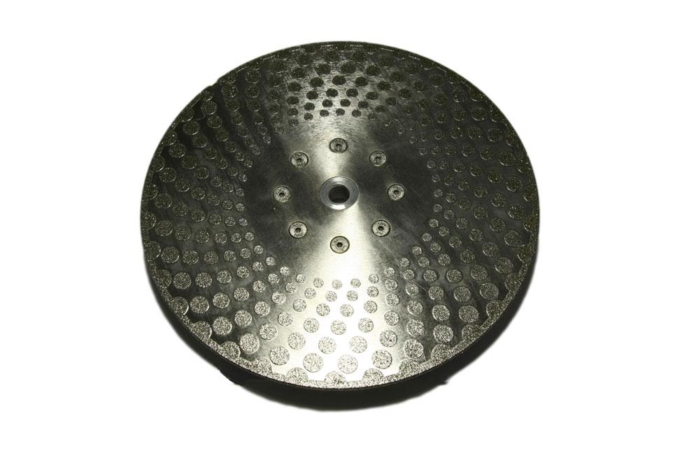 Алмазный отрезной круг по мрамору d 230мм, гальваника М 14 односторонний (кружок)