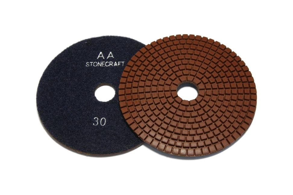 Алмазный гибкий шлифовальный круг d 125мм, класс АА №30-3000 Stonecraft