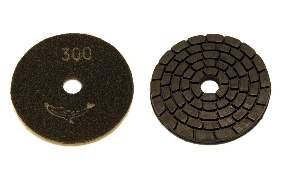 Алмазный шлифовальный круг d 100мм, резиновый №30-300 - Алмазный шлифовальный круг d 100мм, резиновый № 300