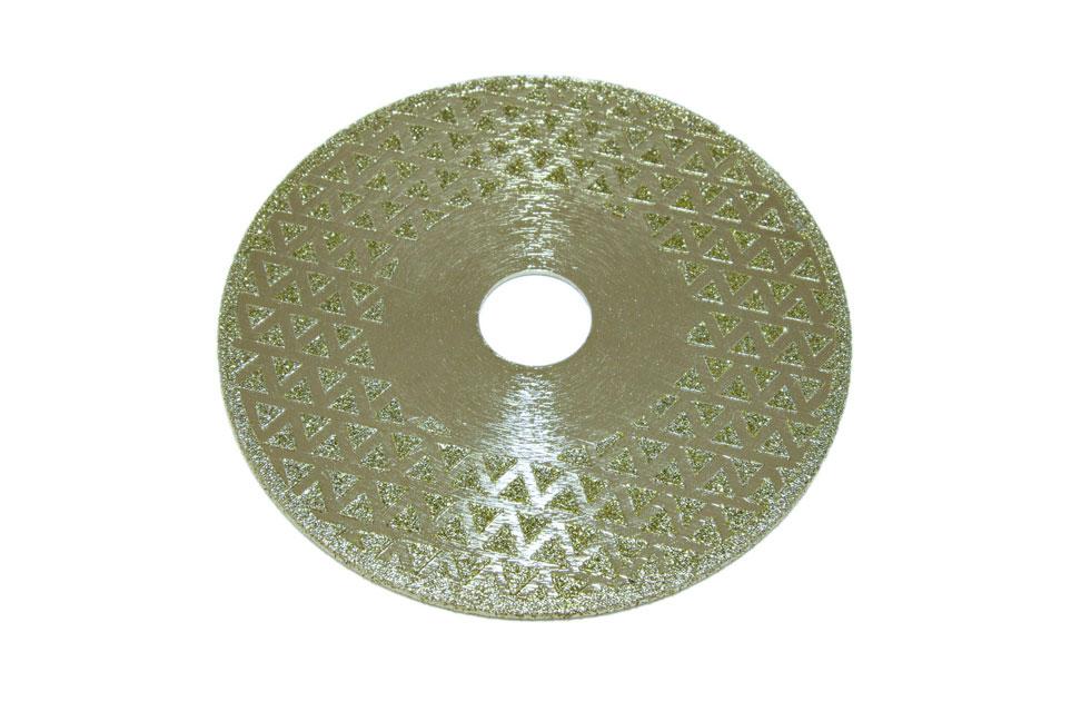 Диск d 125 мм, 22,23 мм гальваническое алмазное покрытие, двухсторонний