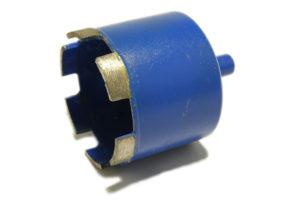 Алмазное сверло синего цвета для гранита и керамогранита