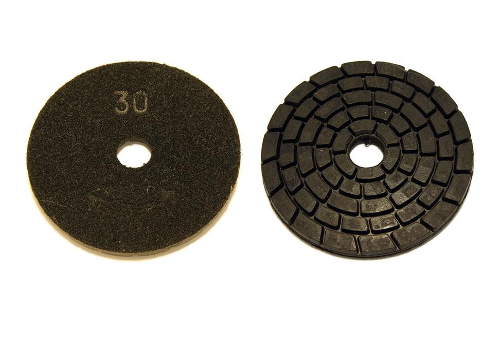 Алмазный шлифовальный круг d 100мм, резиновый №30-300