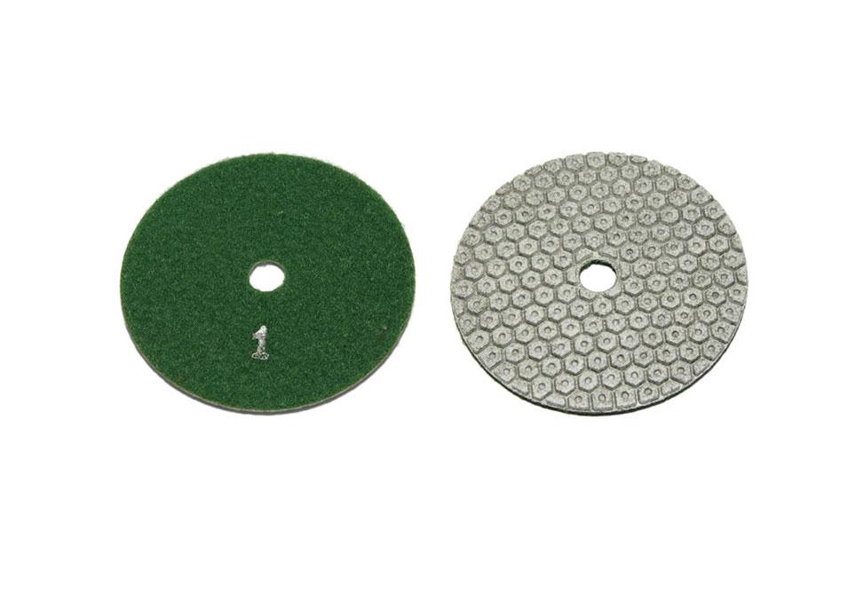 Алмазный гибкий шлифовальный круг d 100мм, 5 шагов «мелкая гайка» №1-5