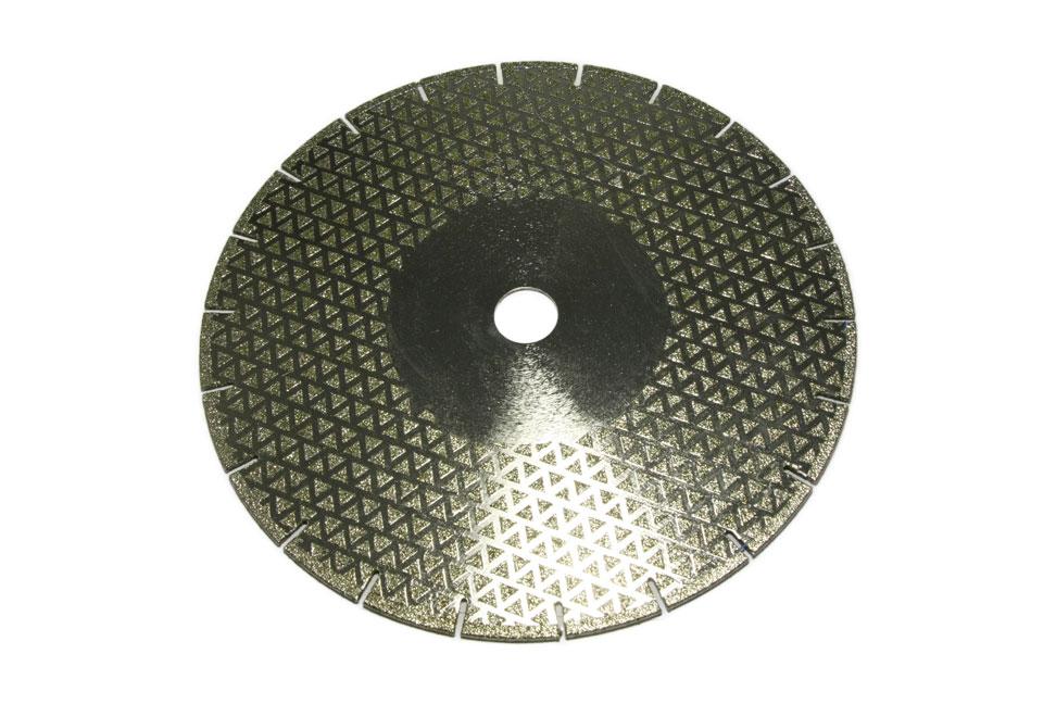 Алмазный отрезной круг по мрамору d 230мм, гальваника односторонний (треугольник)