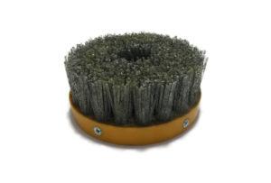 Абразивная щетка для браширования, состаривания камня d 110 мм, М14, №46